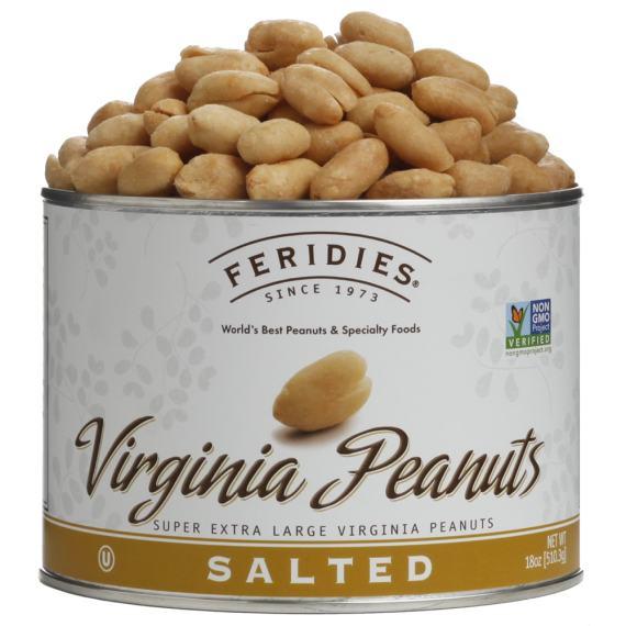 18oz Salted Virginia Peanuts
